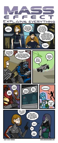 Comic courtesy of Awkward Zombie. Mass Effect.