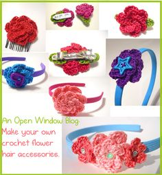 An Open Window: How To: Crochet Hair Accessories