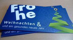 Weihnachtskarten DIN-lang mit partieller Lackierung auf der Vorder- und Innenseite