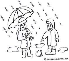 Mewarnai Gambar Musim Hujan