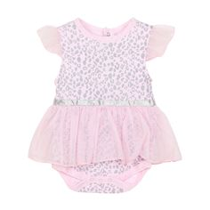 Baby Newborn Pink Leopard Clothes Outfit Hat Romper Dress