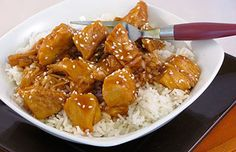 My husband found a Sesame Chicken recipe for the Crock Pot and wanted to try it, and since I love Crock Pot recipes I was happy to oblige. After making some adjustments we found we liked it quite a lot.  If you want it a little hotter you can add m
