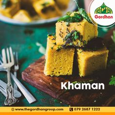Dhokla and Khaman have a special place in the Call us at 079 2687 1222 Gujarati Thali, Indian Food Recipes, Ethnic Recipes, Ahmedabad, Cornbread, Foodies, Millet Bread, Indian Recipes, Corn Bread