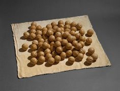 Eva Hesse, Sequel, Latex, pigment, and cheesecloth. Sheet: x cm x 32 in. diameter of each sphere: cm in. Eva Hesse, Abstract Sculpture, Sculpture Art, Louise Nevelson, Claes Oldenburg, Hyperrealism, Cheese Cloth, Art Institute Of Chicago, Conceptual Art