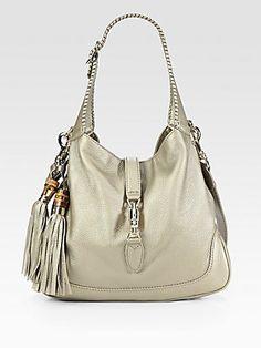 Gucci New Jackie Medium Metallic Leather Bag