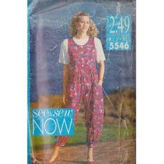 Misses/Misses Petite Jumpsuit & Top Butterick Sewing Patterns 5546 (Size B: L-XL 16-22)