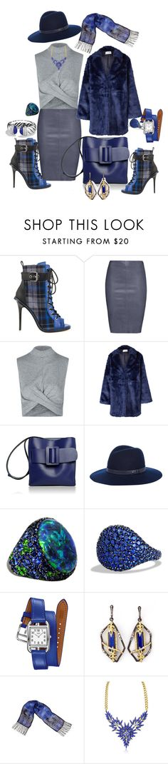"""Blue with my Leather & Plaid"" by blujay1126 ❤ liked on Polyvore featuring GX, Jitrois, Topshop, Won Hundred, Boyy, rag & bone, David Yurman, Hermès, Armenta and Laurel Burch"