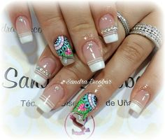 Lindas uñas Henna Nails, Magic Nails, Painted Nail Art, Neutral Nails, Cute Nail Art, Nail Decorations, Fabulous Nails, Flower Nails, Creative Nails