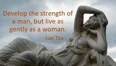 ..* balanced feminine and masculine energy