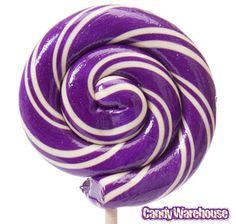 Sour Grape Swirl 1-Ounce Lollipops: 15-Piece Box $49.50 from Candy Warehouse