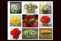 Fruit & Flower Designs - Various Styles- can be used for Centerpieces, Gifts or Just for Fun. www.irisrosin.com