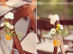 always a favorite: mason jars for chair decorations Wedding Trends, Wedding Blog, Diy Wedding, Rustic Wedding, Wedding Flowers, Dream Wedding, Wedding Ideas, Wedding Inspiration, Wedding Stuff