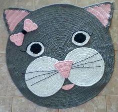 Crochet Coaster Pattern, Crochet Rug Patterns, Crochet Bunny Pattern, Crochet Daisy, Crochet Motif, Crochet Gifts, Crochet Toys, Elephant Rug Crochet, Rag Rug Diy