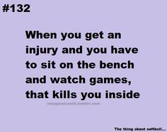 That's why I pretend I'm OK so that I CAN play. It lessens the pain for a while, knowing I can still play!