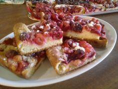 Kysnutý koláč s čerstvým ovocím (fotorecept) - Recept
