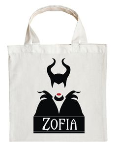 Maleficent Trick or Treat Bag - Personalized Maleficent Halloween Bag #custom-Maleficent-halloween-bag #custom-Maleficent-trick-or-treat-bag #Maleficent-halloween-bag