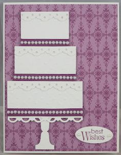 Cake card:  border punch and rectangles  ridiculous easy.