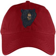Black Bear Red Adjustable Cap | AnimalWorld.com