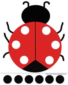Ladybug Cut and Paste Activity + Printable