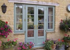 Image result for blue spray painted aluminium doors and windows