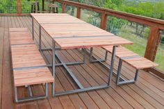 Made from rustic cherry. Custom Made Furniture, Diy Furniture, Outdoor Furniture, Outdoor Dinning Table, Indoor Outdoor, Outdoor Decor, Absolutely Gorgeous, Custom Design, Cherry