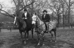 Rose Kennedy with Mrs. Anorens along Rotten Row in Hyde Park, London, England, Town Country Rose Kennedy, Equestrian Chic, Famous Movies, Hyde Park, Town And Country, Historical Photos, Countryside, London England, The Row