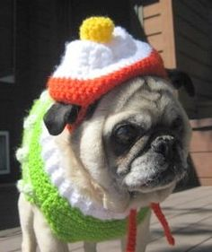My Emmitt makes a beautiful model! ~Candy Corn Dog Hat Crochet Pattern PDF 105 by ChristinasKewlStuff, $3.95