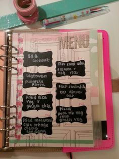 I don't presently need a menu page in a planner, but maybe someday.