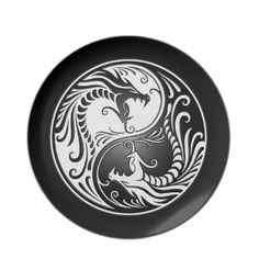 Ying Yang with dragons, would like it better if it had more of the lines instead of the solid black ring around them