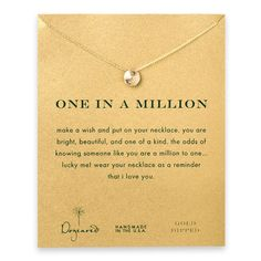 Dogeared, One in a Million Sand Dollar Necklace, Gold Dipped – Blue Daisy