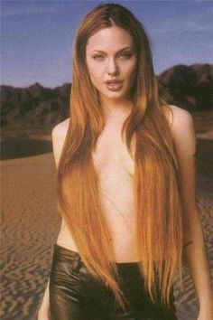 Angelina Jolie - young, wild and free. For everyone who loves the Angie! Angelina Jolie Young, World Most Beautiful Woman, Milla Jovovich, Beautiful Long Hair, Hair Pictures, Celebs, Celebrities, Female Images, Famous Faces