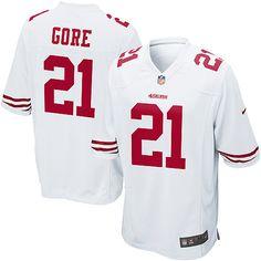 7374daccafe Reebok NFL Jerseys San Francisco 49ers 21 Frank Gore White Frank Gore is a  beast.