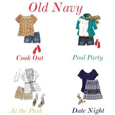 Old Navy Plus Size Summer Style, created by ellesees on Polyvore