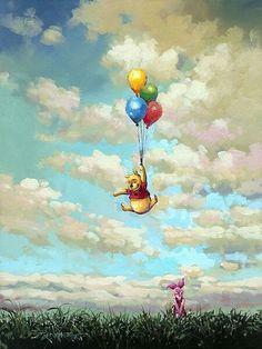 Winnie the Pooh – Puuh Bär und seine Luftballons – Original – Rodel Gonzalez – … Winnie the Pooh – Pooh Bear and his Balloons – Original – Rodel Gonzalez – World … – Cute Winnie The Pooh, Winne The Pooh, Winnie The Pooh Quotes, Winnie The Pooh Friends, Disney Kunst, Arte Disney, Disney Art, Cute Disney Wallpaper, Cartoon Wallpaper