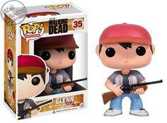 Cabezón The Walking Dead. Glenn ensangrentado, Funko POP Television, 9cm