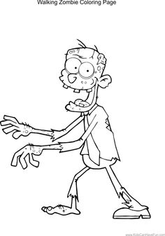 Kids Zombie Coloring Pages | ✿ Coloring Pages ✿ | Pinterest ...