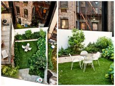 awesome West Village Garden Decor Ideas  #Garden #NYC #RooftopGarden #Urban #UrbanGarden   Foras is a New York based Studio. They made in West Village this super chic garden designed to be viewed from the buildings around. ...