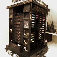 Tim Holtz Carousel Storage Tower a must have for the serious scrapper ... i want this so bad.
