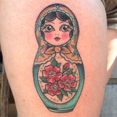 Russian Doll tattoo, Babushka tattoo, Nesting doll tattoo: By Courtney O'Shea  at Let it Bleed Tattoo San Francisco    http://courtneytattoos.tumblr.com