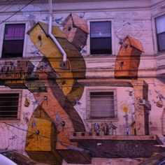 The Mission has the highest concentration of murals in the whole world. Any wonder why I love it here?