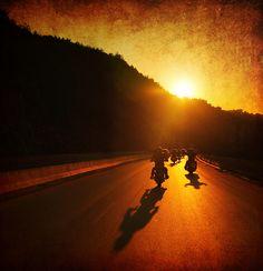 Biker Sunset