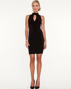 Cut-out Halter Dress