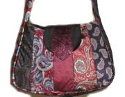 Necktie Hobo Bag - Free Tutorial by Laura at CraftBits