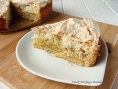 Smak Mojego Domu: Kruche ciasto z jabłkami i kokosową bezą