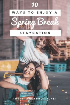 10 ways to enjoy a spring break staycation . - 10 ways to enjoy a spring break staycation Break pelicula Spri - Spring Break Vacations, Spring Break Destinations, Spring Break Quotes, Spring Break Party, Local Movies, Road Trip, Books For Self Improvement, Staycation, College Students