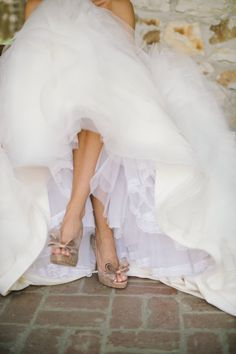 Valentino shoes for your wedding! A necessary bridal splurge ;)