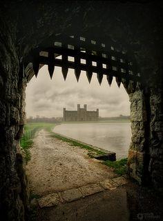 Leeds Castle Drawbridge in Kent, England Composite by David Stoddart