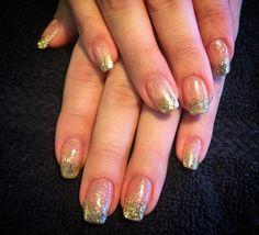 Beautiful gold sparkly gel polish created by Corin! colorsbykim.com