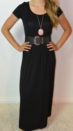 modest black maxi dress