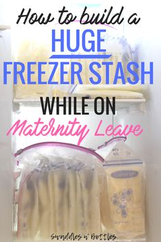 How to build a freezer stash of breastmilk while on maternity leave. Pumping tips, how to increase your milk production, pumping schedule,storage hacks for frozen breastmilkand much more.